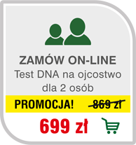 Test DNA na ojcostwo dla 2 osób